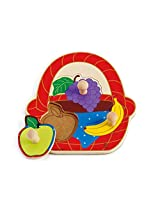 Hape - Fruit Basket Knob Puzzle