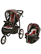 2015 Graco Fastaction Fold Jogger Click Connect Travel System, Chili Red
