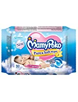 Mamy Poko Pure and Soft Fragnance Wipes (Dark Blue, 50 Sheets) Mamy Poko