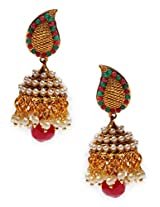 Exclusive Multicolor Pearl Traditional Earring - J0101056