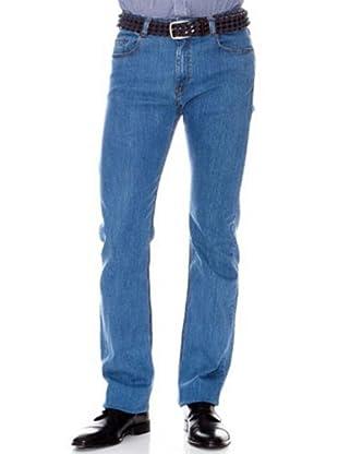 Cortefiel Pantalón Regular Straight (Azul)