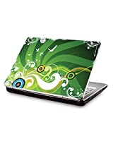 """Clublaptop CLS 59 Green Music Laptop Skin For 15.6"""" Laptops"""