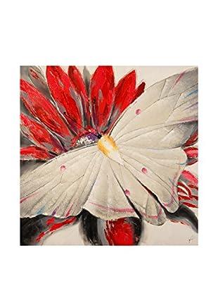 Arte dal Mondo  Wandbild Paolo Rossini Dipinto Farfalla Su Fiore