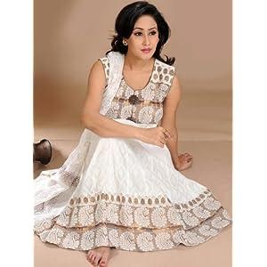 Utsav Fashion Anarkali Churidar Kameez - Off-White