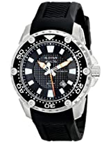 Bulova Marine Star Analog Black Dial Men's Watch - 98B209