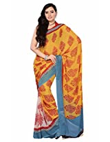 Yashika Exclusive Printed Heavy Georgette Saree Yellow-SSTHD1012
