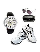 Anno Dominii Combo Of Men Watch Sunglasses And Shoes 55