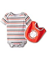 Bon Bebe Baby Boys Newborn Major League Cuteness Bib And Bodysuit Set By Bon Bebe