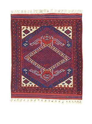 L'EDEN DEL TAPPETO Alfombra Antik Rojo/Multicolor 110 x 114 cm