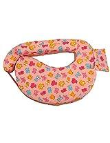 Advance baby Cat Print Feeding Pillow full - Pink