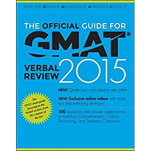 The Official Guide for GMAT Verbal Review 2015: With Online Question Bank and Exclusive Video