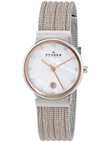 Skagen Analog Mother of Pearl Dial Women's Watch 355SSRS