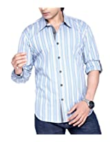 Moksh Men's Striped Casual Shirt V2IMS0414-19 (Large)