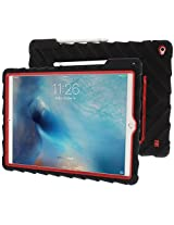 Apple iPad Pro Case Silicone Rugged Shock Absorbing Protective Dual Layer Cover Case High Impact - Gumdrop Cases Hideaway with Stand - Red