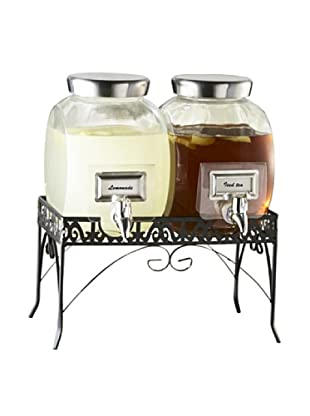 Style Setter 1-Gal. Williamsburg Glass Beverage Dispenser with a Stand