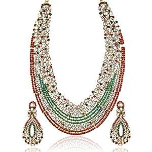 Zaveri Pearls Long Kundan  Necklace Set for Women-ZPAM09
