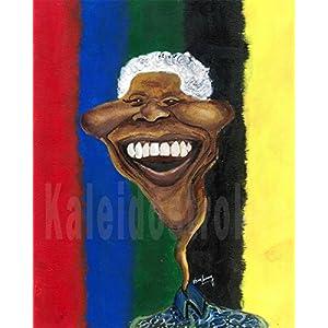 Kaleidostrokes Caricature - Nelson Mandela