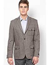 Brown Slim Fit Jacket & Blazer