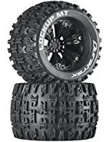 Duratrax Lockup MT 3.8 Mounted 1/2 Offset Tyre (Set of 2), Black
