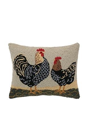 Warren Kimble Double Roosters Hook Pillow
