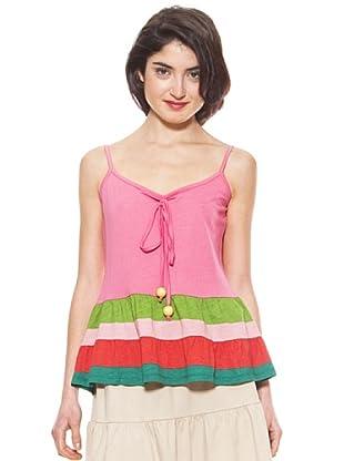La Casita de Wendy Camiseta Rayas (rosa oscuro)