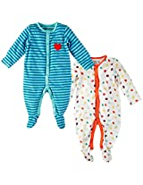 Infant Boys Sleepsuit: Pack Of 2, Multi Colour (0-3 Months)