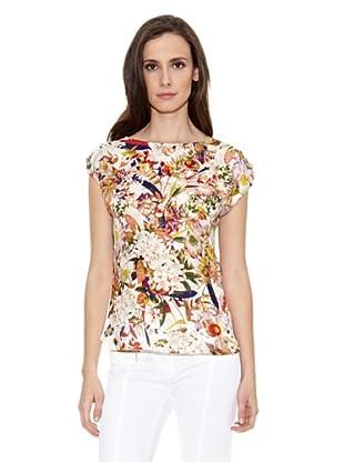 Cortefiel Camiseta Tropical (Multicolor)