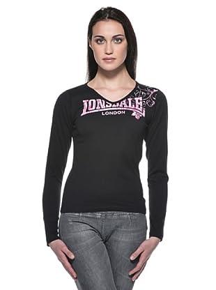 Lonsdale Camiseta Adrián (Negro)