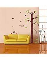 UberLyfe Large Tree Height Measurement Growth Chart with Quote Wall Sticker for Kids Room