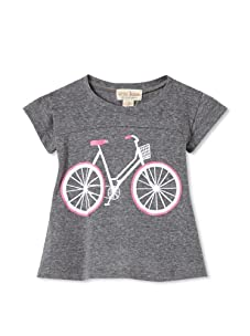 Upper School Girl's Bicycle Babydoll Top (Heather Grey)