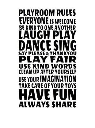 LO+DEMODA Wandtattoo Playroom Rules