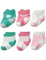 Carter's Baby-Girls Face Socks (Pack of 6)