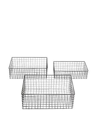 Set of 3 Wire Baskets