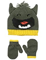 Carters Baby-Boys Marled Monster Hat and Mitten Set
