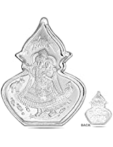 RSD 5 Grams Silver Coin of lord Radha Krishna 99.90 Finess