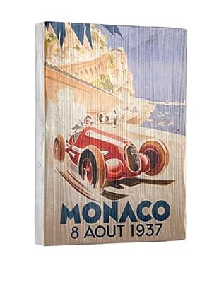 Artehouse Monaco Grand Prix Reclaimed Wood Sign