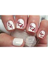 Valentine Red Hearts 3 Nail Art Decals