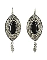 Shalinindia Brass Dangle & Drop Earring For Women (Black)