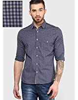 Overdyed Gingham Check Casual Shirt Phosphorus