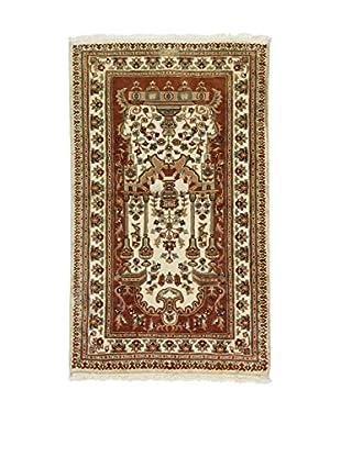 L'Eden del Tappeto Teppich Kashmirian F/Seta braun/elfenbein 152t x t92 cm