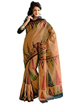 Orbymart Exclusive Designer Raw Silk Multi Colour Printed Saree - 55254366