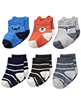 Carter's Baby-Boys Character Face Socks (Pack of 6)