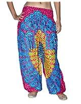 Famacart Women Pocket Printed Harem Pant Free Size PINK