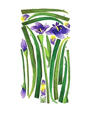 Ambiance Live Wandtattoo Iris flowers decals mehrfarbig