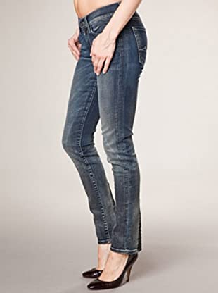 7 for all Mankind Roxanne W Transpare Risky Absinth Skinny Fit (dunkelblau denim)
