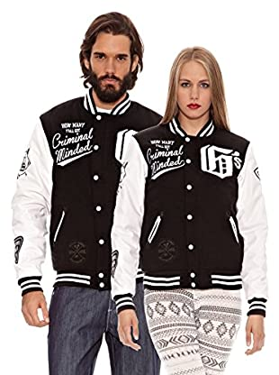 Grimey Wear Chaqueta Baseball Slash and Burn (Negro)