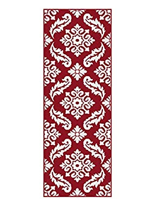Universal Rugs Metro Contemporary Runner, Red, 3' x 8'