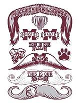StacheTATS Mississippi St. Temporary Mustache Tattoos