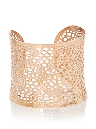Chloe Collection By Liv Oliver Rose Wide Textured Cuff Bracelet