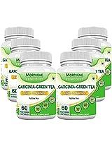 Morpheme Garcinia Green Tea 500mg Extract 60 Veg Capsules - 6 Combo Pack